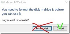 Don't format the disk