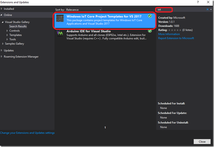 Visual Studio Tools Extensions and Updates